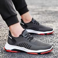 2019 Men Vulcanize Shoes Sneakers Wear-resisting Non-slip Male Mesh Tenis Masculino Plus Size 39-45