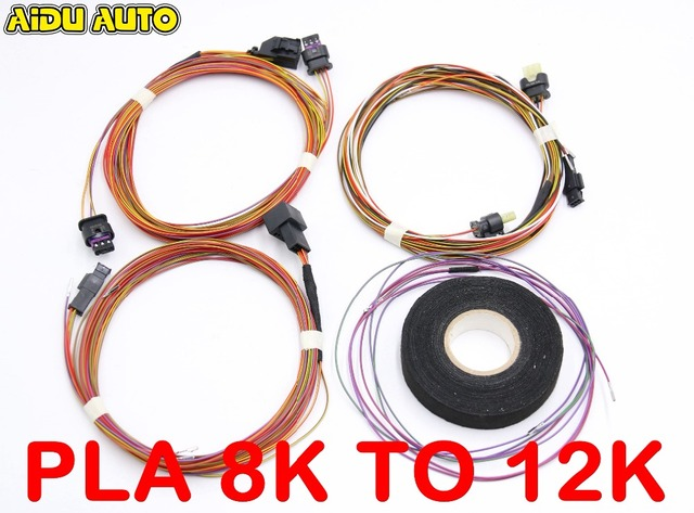 Auto Parking PLA 2.0 3.0 Play&Plug 8K To 12K Install Harness Wire For VW MQB Golf 7 passat b8 tiguan A3 8V Kodiaq Octavia SUPERB