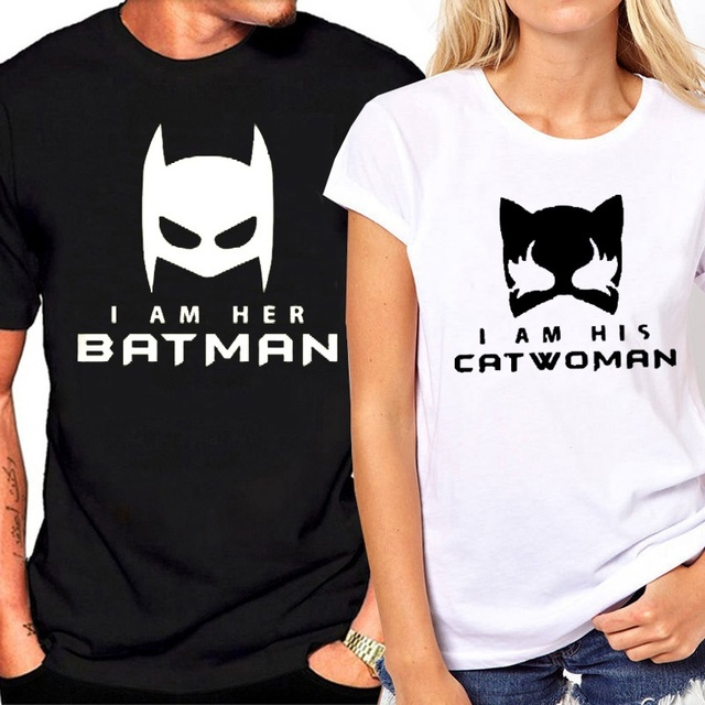 Batman And Catwoman Couples Shirts Matching T For Tshirts Anniversary Gift Fashion