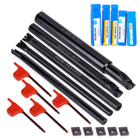 5pcs Lathe Turning Tool Holder Boring Bar 5pcs CCMT0602 Inserts With 5pcs Wrench For Power Tools