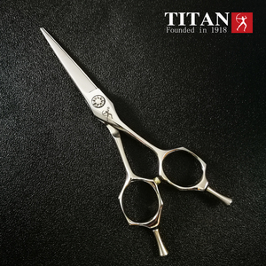 Image 3 - Titan barber shop stianless steel VG10  hand made sharp professinal hair scissors