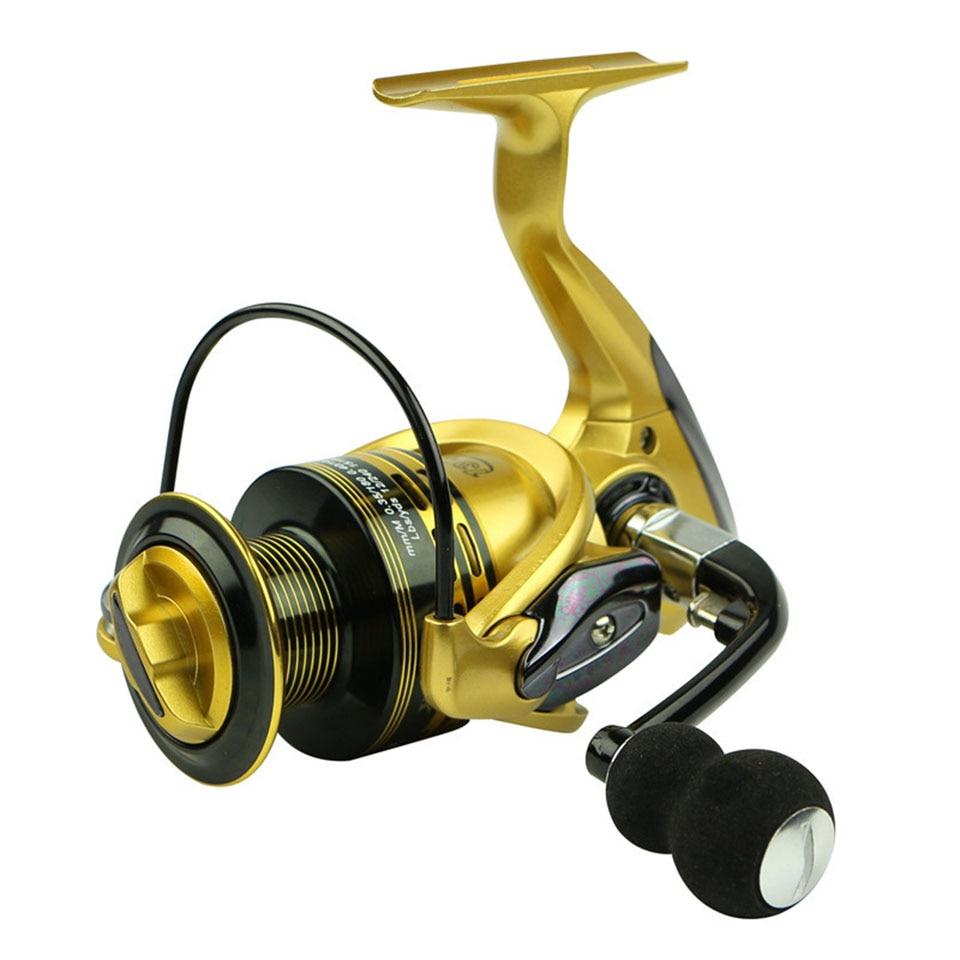 Marca Fishing Reels 13 + 1BB 5.5: 1 Full Metal para alimentador de peces baitcasting carrete hilado para varillas