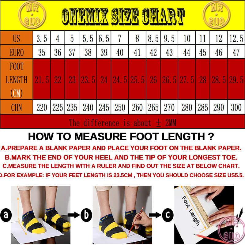 Onemix Erkekler koşu ayakkabıları Kadınlar için Siyah Örgü Örgü Hava Nefes Tasarımcı Trail Koşu Sneakers Açık Spor yürüyüş Eğitmenler