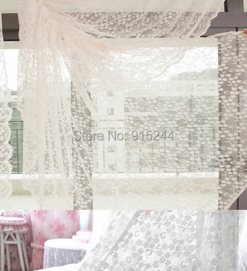 buy white lace curtain finished products wave head curtain customize rustic screens curtain windows decoration living room curtains from