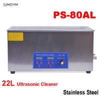 1PC 110V/220V The large PCB/ industrial control board Ultrasonic Cleaner 22L Stainless Steel Cleaning Machine