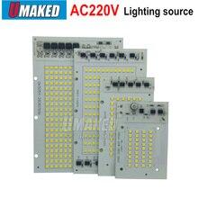 1 шт. светодиодными лампами COB чип лампа умная ИС(интеграционная схема) 220V 200W 150W 100 Вт 50 Вт 30 Вт 20 Вт для Открытый прожектор теплый белый/белый высокого качества