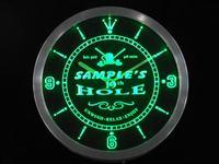 Ncpi-tm גולף-חור אישית שלך שם בר Dropshipping סיטונאי שעון Led ניאון סימן בירה