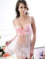 B00461 của Phụ Nữ Intimates Đêm Dress Xem Qua Sexy Lingerie Hot Bán Buôn và Bán Lẻ Trắng Ren Babydoll
