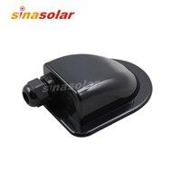 Black Super Light Waterproof Solar Cable Entry Plate Single/Double Hole For Caravan Motorhome RV