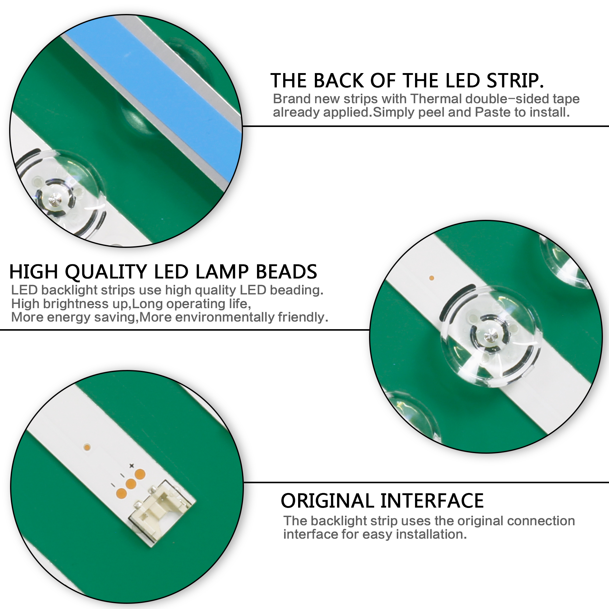 """Image 5 - LED backlight strip 6 lamp for LG innotek DRT 3.0 32""""_A/B 590mm 6916L 2406A 6916L 2407A LG32LF560U 32LF630V 32LB5800 UG 32LB580V-in Industrial Computer & Accessories from Computer & Office"""