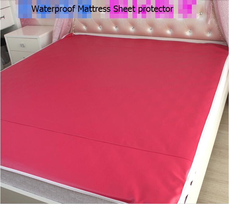 200x180cm Waterproof Mattress Sheet Protector Pad Cover Bed Washable Adults Children Kids Faux Leather Waterproof Urine