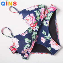 Summer Hot Sexy Push Up Neoprene Bikini Set Swimwear