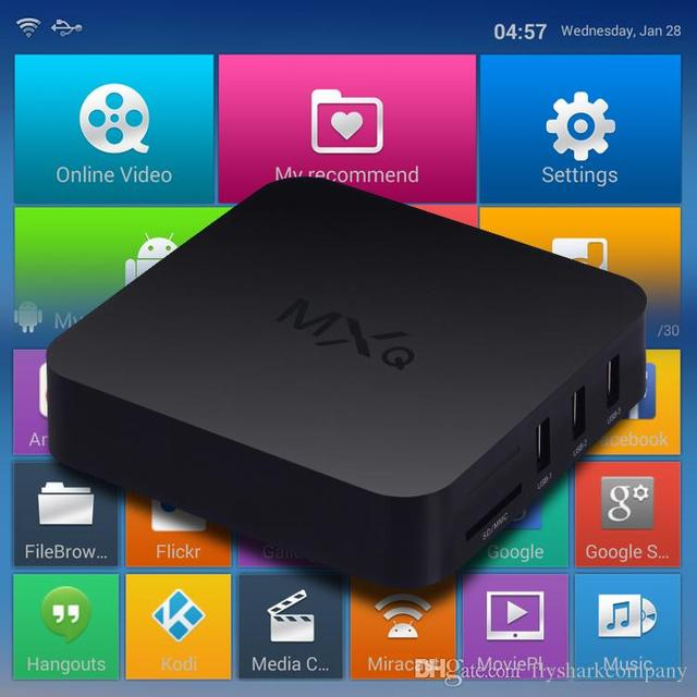US $48 68 |OTT Amlogic S805 MXQ Firmware Android TV Box Quad Core Pre  installed XBMC Android 4 4 Kodi 15 2 MXQ With Remote Control-in Set-top  Boxes