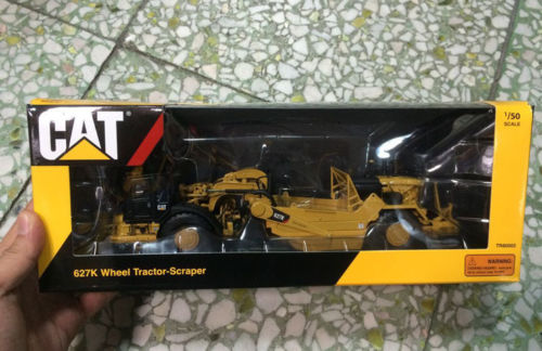 # TR80002-Tonkin répliques CAT 627 K roue tracteur grattoir Caterpillar-1:50 véhicules de chantier