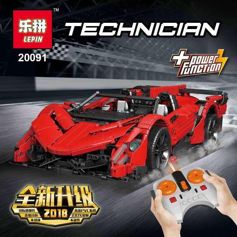 Lepin 20091 technique RC Super voiture de course Veneno Roadster modèle Figure blocs de construction briques compatibles Legoing MOC-10559 Set jouet