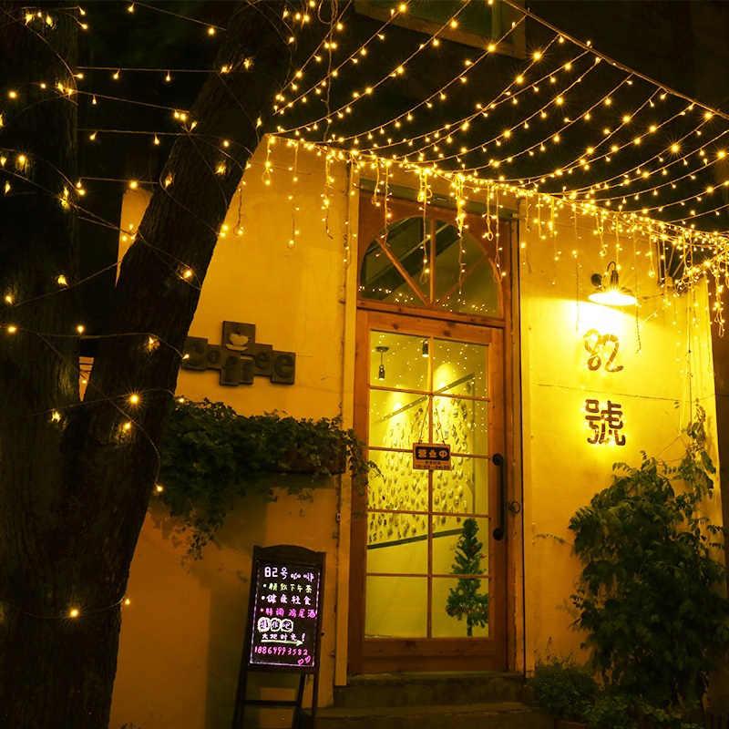 Đèn Led Dây Đèn Đèn LED Chống Nước Cưới, Giáng Sinh, Năm Mới Vườn Nhà Trang Trí Ngoài Trời 10/20/30/ 50/100M Cổ Tích Vòng Hoa