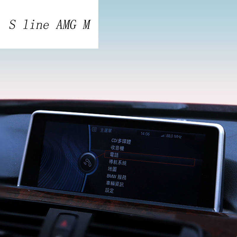 Car Styling Navigation Decorative Frame Strip Covers <font><b>Stickers</b></font> Trim For <font><b>BMW</b></font> 1 2 3 4 Series <font><b>F22</b></font> Coupe F20 F30 F34 auto Accessories image