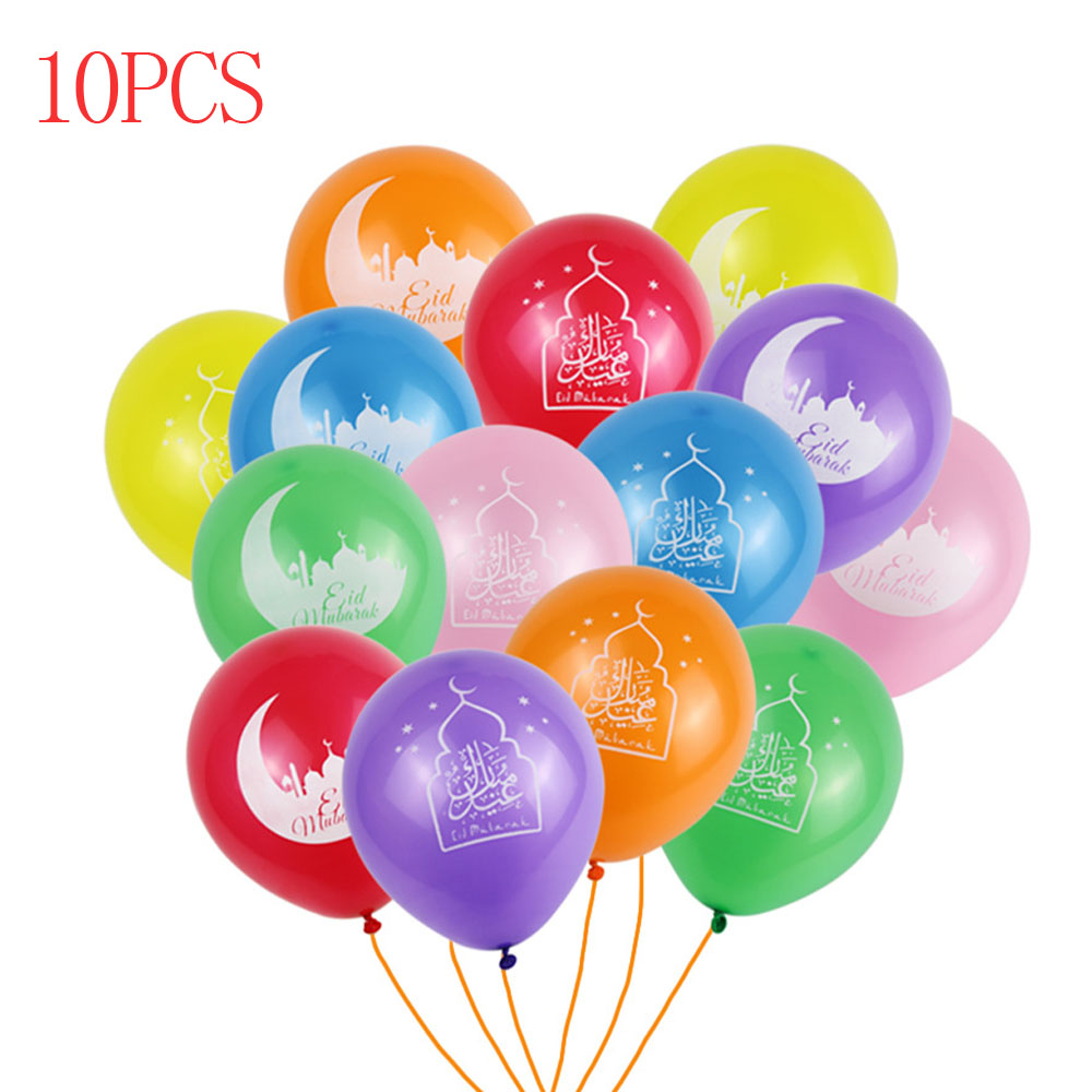 2019 EID MUBARAK decoration Balloons Eid al adha decor Silver Ballon Helium For Muslim Eid For Party Air Ball Mixed Gold Confett in Party DIY Decorations from Home Garden