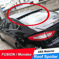 JNCFORURC Rear Window Roof Spoiler For Ford Mondeo Fusion 2013 14 15 16 17 ABS plastic Material Rear Roof Spoiler Black White