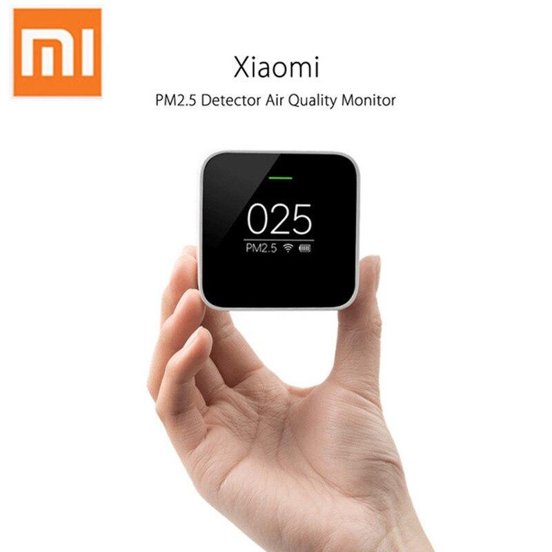 Original Xiao mi mi jia PM2.5 détecteur de qualité de l'air testeur OLED écran capteur intelligent contrôle intelligent APP adapter mi purificateur d'air maison