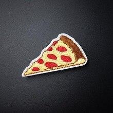 Пицца(Размер: 3,5X6,0 см) DIY тканевые значки для украшения одежды нашивки для джинсов Куртки Сумки Одежда Швейные украшения аппликация