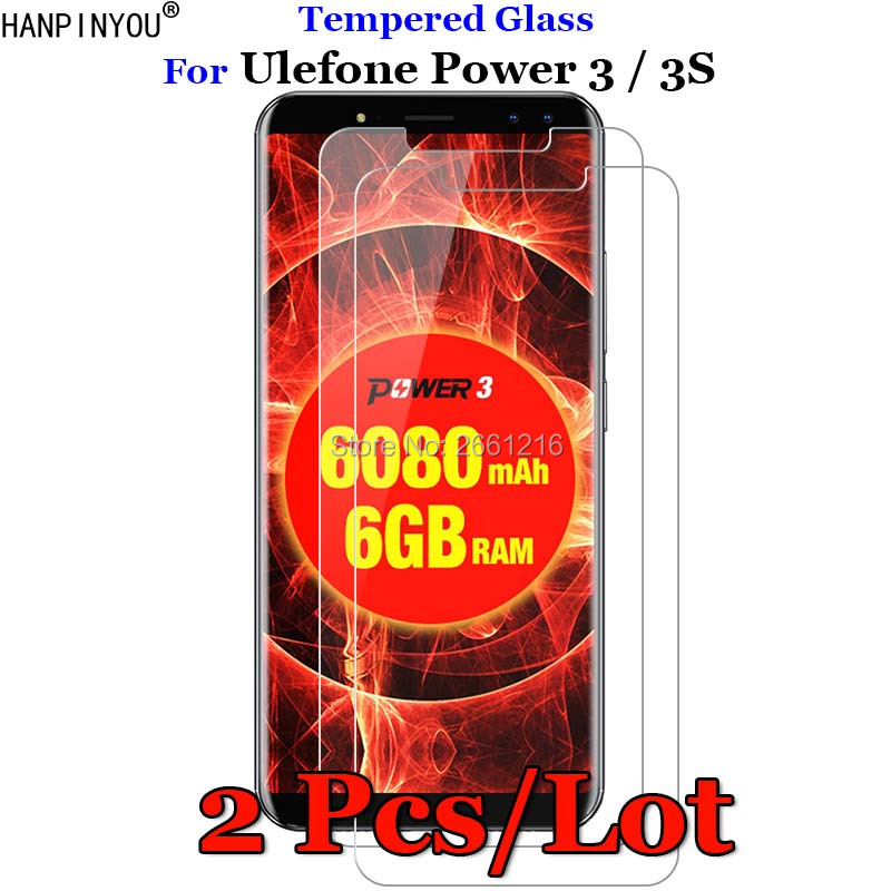 2 Pcs/Lot For Ulefone Power 3 Tempered Glass 9H 2.5D Premium Screen Protector Film For Ulefone Power 3S 6.0
