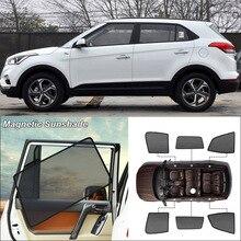 Car Side Windows Magnetic Sun Shade UV Protection Ray Blocking Mesh Visor For HyundaiIX25 Curtain Accessories