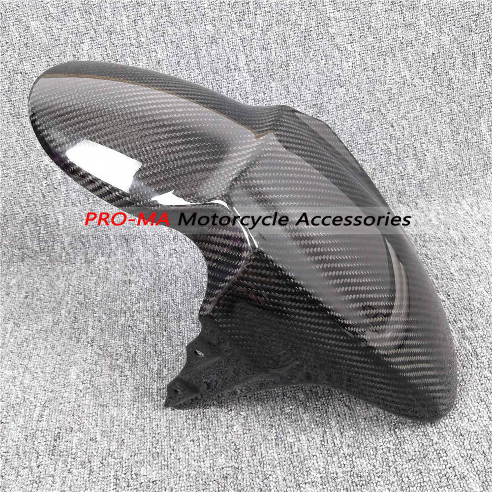 Motorcycle Front Fender In Carbon Fiber For Triumph Speed Triple 1050 2011+ Twill