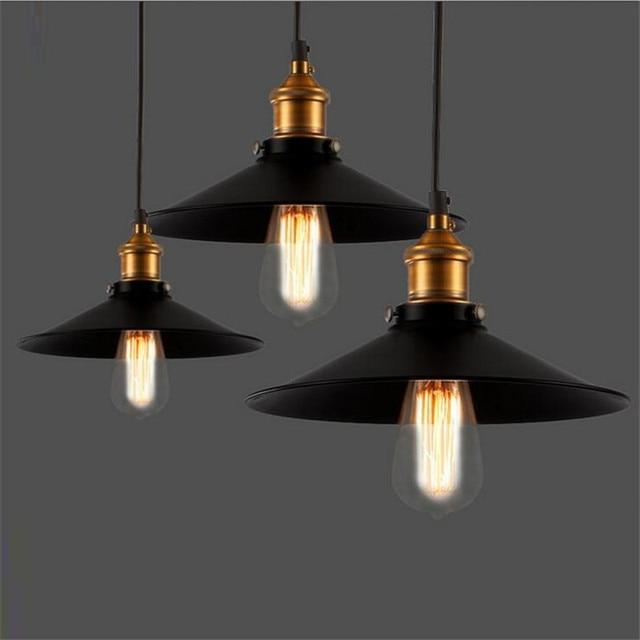 industrial bar lighting. L13-American Village Warehouse Retro Pendant Light Loft Industrial Bar Restaurant Little Black Skirt Lighting O