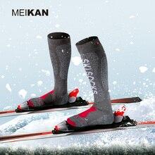 Winter Thermische Ski Socken Männer Baumwolle Coolmax MEIKAN Marke Langen Dicken Sport Socken Terry Warme Schnee Kompression Snowboard Socken