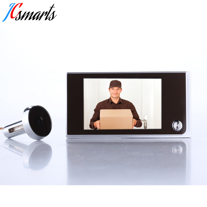 Home security 3.5 monitor door viewer mini door peephole camera AAA battery powered long standby time Russia free shipping