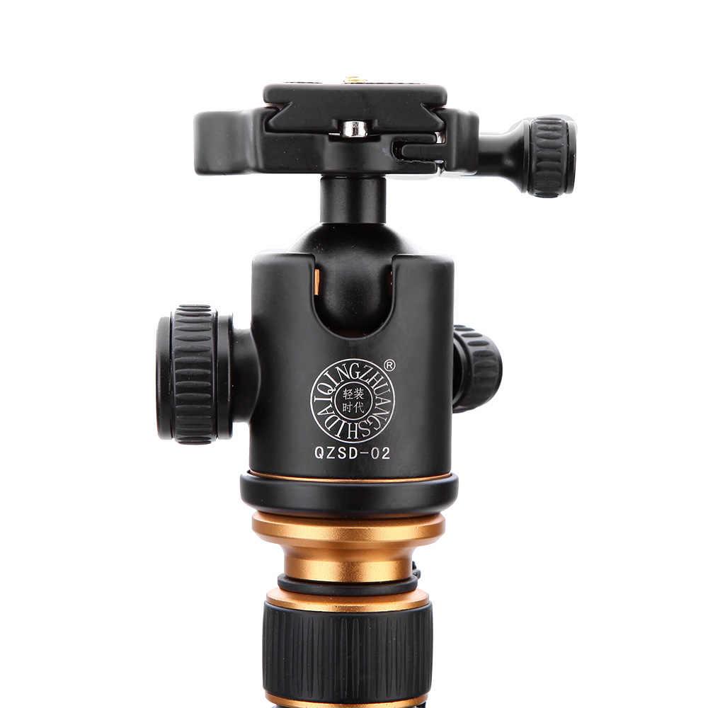 Карбоновое волокно DSLR камера штатив оригинальный QZSD Q999C профессиональный монопод + шаровая Головка/Портативная фотокамера лучше, чем Q666