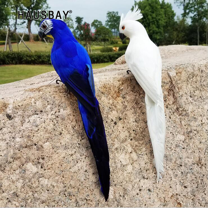 Artificial parrots Bird Home decor Simulation Birds Vividly Parrots Garden Ornament Artificial Bird Cute Wall Stricker 05295