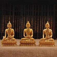 Efficacious Alloy Metal Pharmacist /Sakyamuni /Amitabha Buddhist Gold Plated Bhaisajyaguru Statue House Office Decorations