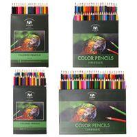 18/36/48/72 renkler güzel sanatlar çizim yazma ahşap toksik olmayan yağ bazlı kalemler kalem seti sanatçı kroki kırtasiye malzemeleri| |   -
