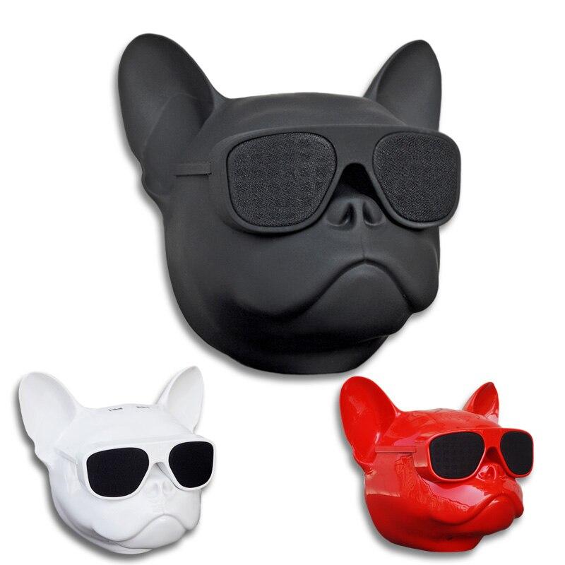 Wireless Bluetooth Speaker Deep Bass Bulldog Speaker Portable Speaker Loudspeaker TF Card Mp3 Player Multipurpose Mini Dog