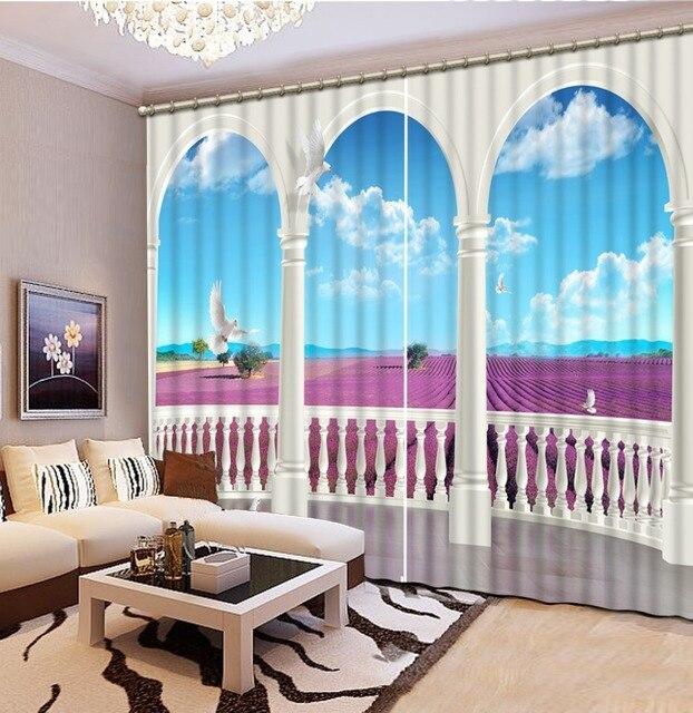 Vorhang fenster raum Vorhänge für wohnzimmer marmor säule Mode 3d ...