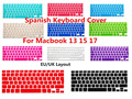 ESP Силиконовые Испанский Клавиатуры обложка Протектор Для Macbook Air Pro 13 15 17 Протектор для Mac book клавиатура Испанский Испания ЕС