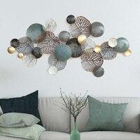 Скандинавское роскошное настенное уркашение для гостинной современный ресторан кованые 3D наклейки на стену, диван крыльцо настенные подве