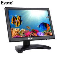 EYOYO EM10A 10.1 IPS LCD Monitor Mini Computer Display LED Screen 2 Channel Video Input Security Monitor With Speaker VGA HDMI