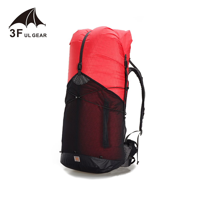 3F UL GEAR 55L Large XPAC Climbing Backpack Outdoor Ultralight Frame Less Packs Bags Lightweight Durable