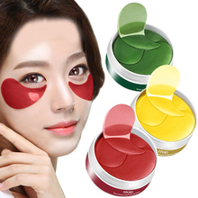 Collagen Crystal Anti-wrinkle Mask for the Eyes Dark Circles Remover Anti Pufiness Moisturizing Eye Patch 60pcs/bottle electric facial massager for eyes lips anti aging wrinkle eye patch dark circle remover pen ion import eyes care massage device