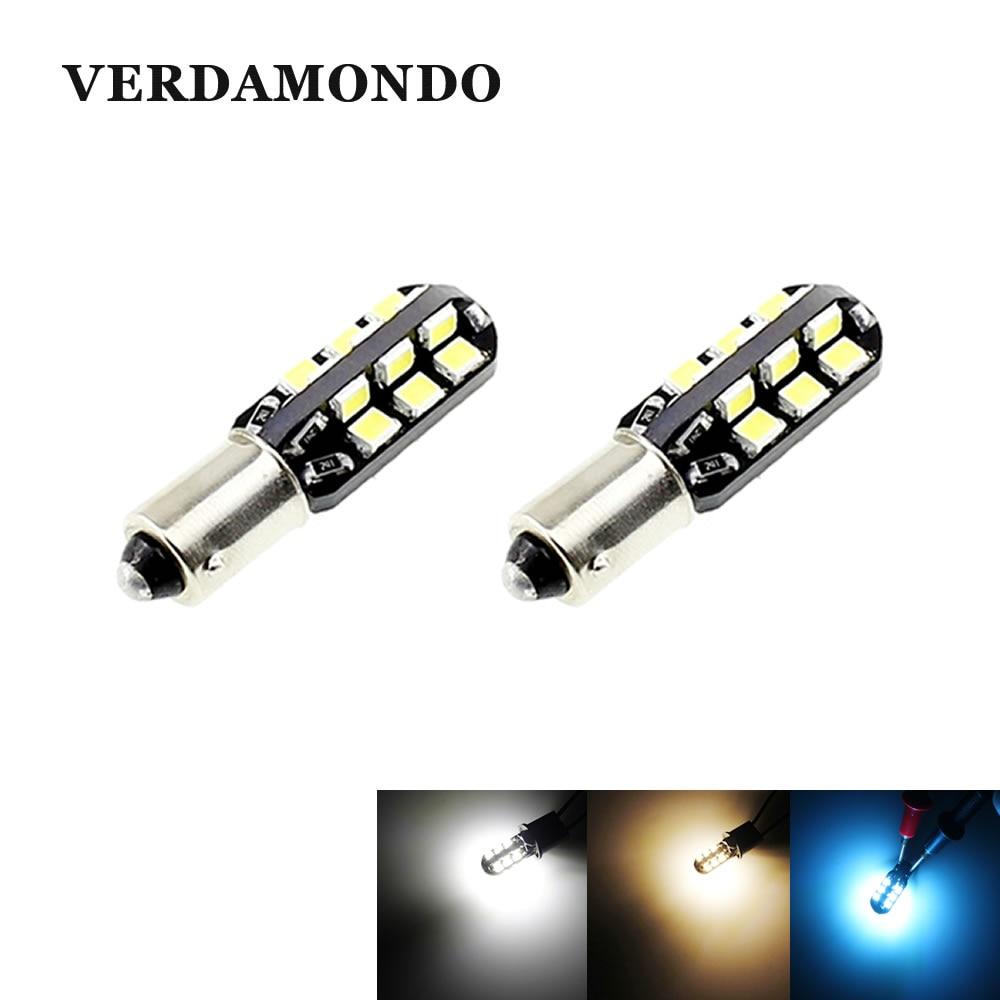 2PCS BA9S T4W 24 2835 White Warm White Iceblue LED Light Bulb For Car DC 12V Car Styling Reading Light Side Marker Light