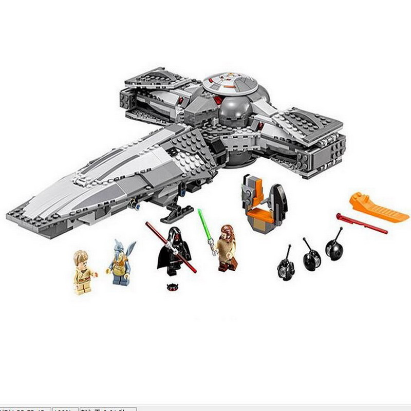 05008 LEPIN Star Wars 7 Sith Infiltrator Figure Blocks Educational Construction Building Bricks Toys For Children Compatible new lepin 698pcs 05008 star wars sith infiltrator figure marvel building blocks set toys compatible legoed with 7961