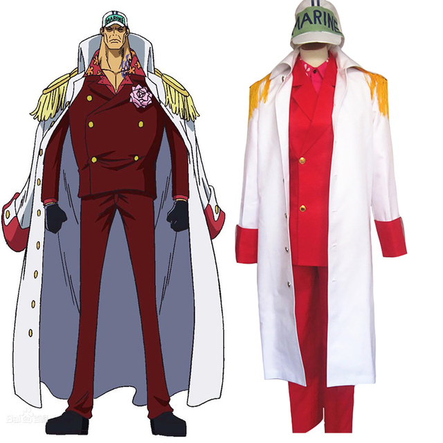 Us 90 48 22 Off Anime One Piece Marines Admiral Sakazuki Admiral Akainu Whole Set With Red Suit Cosplay Costume In Anime Costumes From Novelty