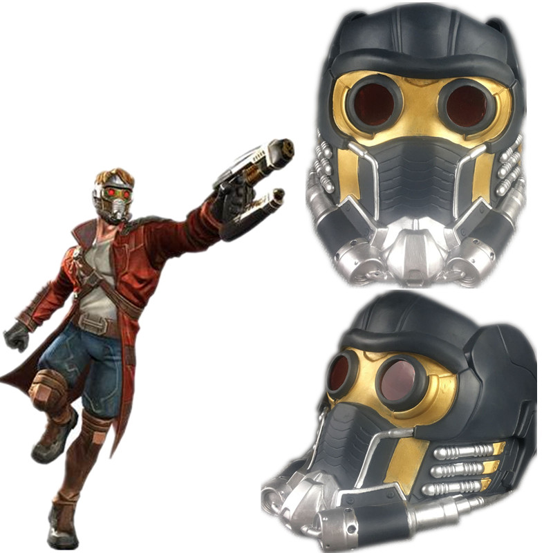 Guardians Of The Galaxy Vol. 2 Star Lord PVC Helmet Cosplay Mask Prop LED Lights Masks lord marksman and vanadis vol 2