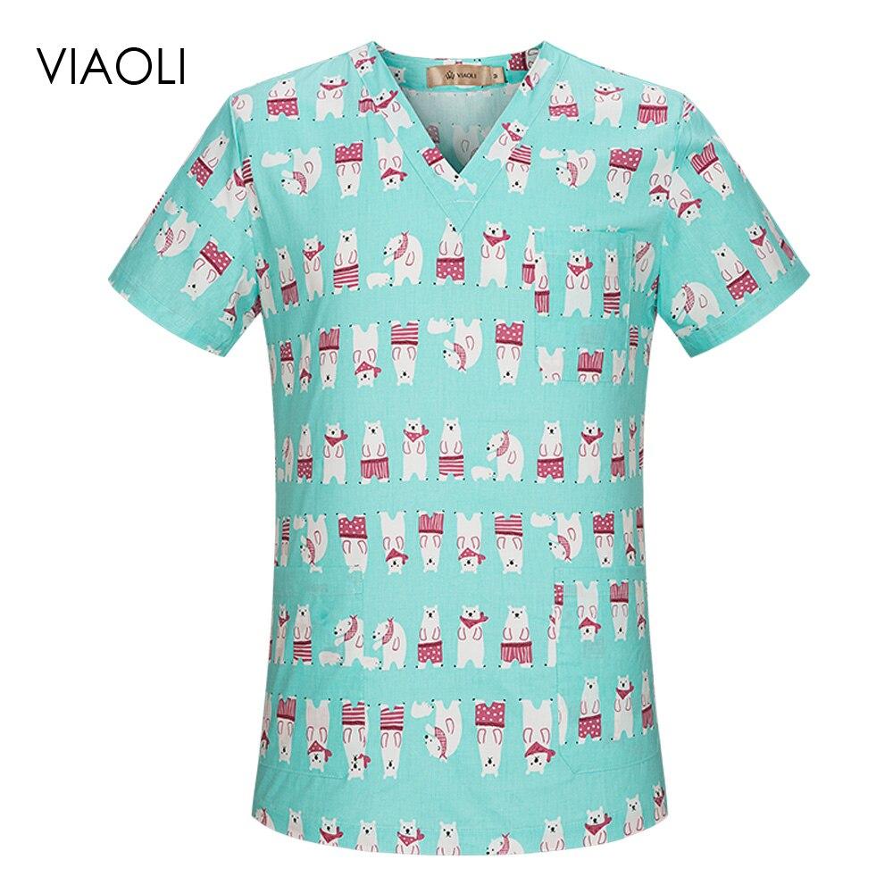 Pet Doctor Nurse Surgical Tops Dental Clinic Workwear Hospital Nursing Medical Scrubs Clothes Beauty Salon Uniform Men And Women