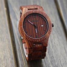 Wooden Quartz Watch Men 2018 Fashion Mens Watches Top Brand Luxury Date Wrist Watch Male Clock Hodinky Relogio Masculino