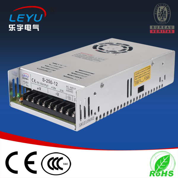 Low cost high reliability 250w switching power supply 27v power supply cost justifying usability