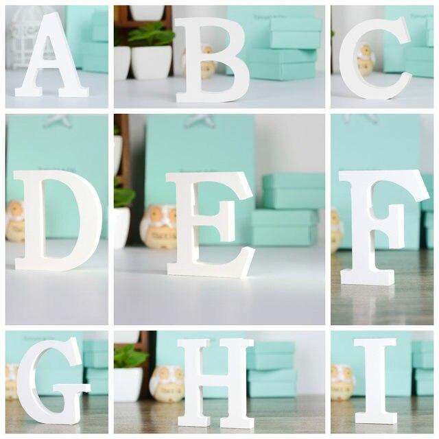 Tienda Online Creativo 3D MDF alfabeto pegatinas de pared mobiliario